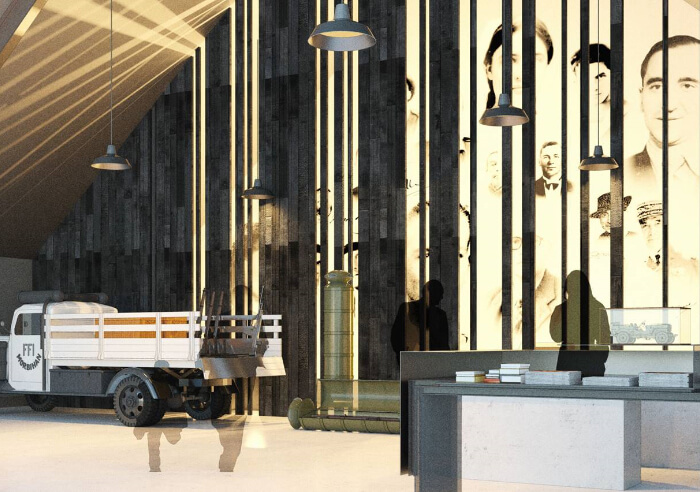Vue du musée de la résistance en bretagne