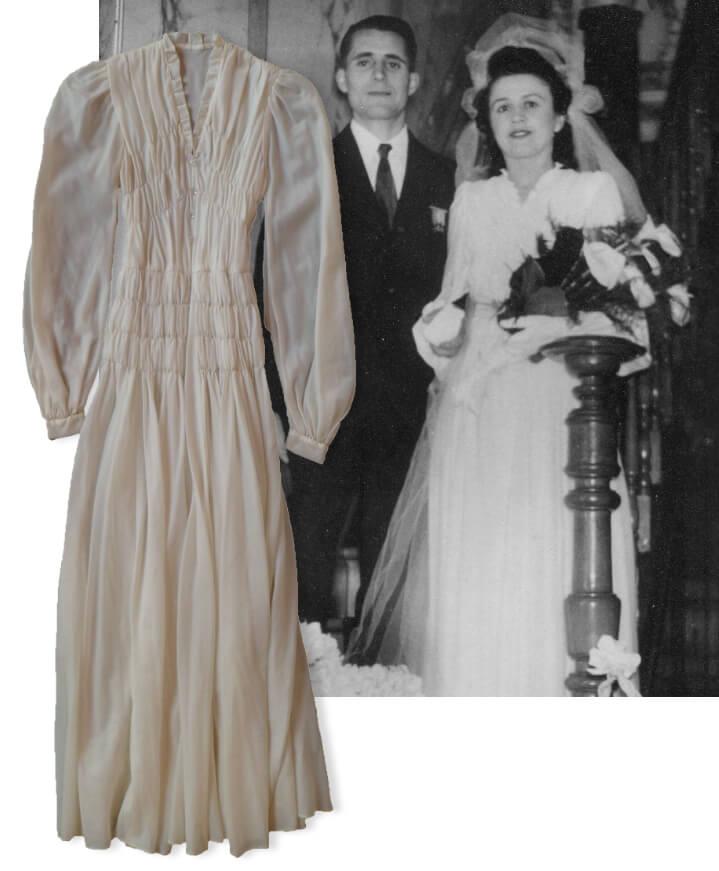 Robe de mariée en toile